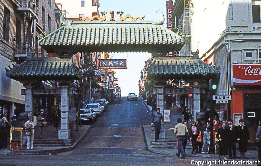 San Francisco:  Portal  to Chinatown, Grant St.  Photo '83.