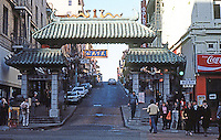 San Francisco:  Portal  to Chinatown, Grant St.  Photo '83.