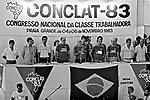 Segunda Conferencia Nacional da Classe Trabalhadora, Conclat. Praia Grande. SP. 1983. Foto de Juca Martins.