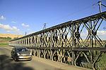 Israel, Upper Galilee, the Pkak bridge across the Jordan River