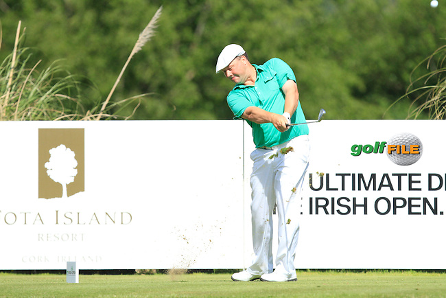 Chris Doak (SCO) on the 11th tee during Round 4 of the Irish Open at Fota Island on Sunday 22nd June 2014.<br /> Picture:  Thos Caffrey / www.golffile.ie