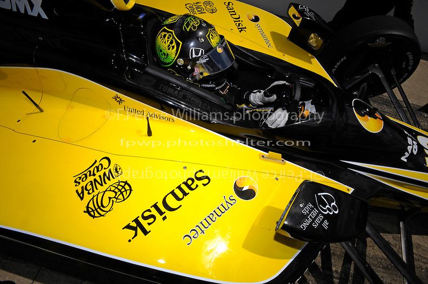 4-25 May 2008, Indianapolis,Indiana USA.Tomas Scheckter (#12).©2008 F.Peirce Williams USA.