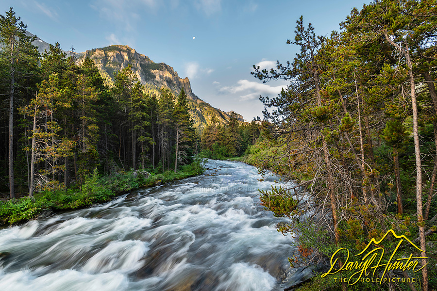 Daybreak at West Rosebud Creek. Some creek right, in many places this would be a river but not on the north slope of the Beartooth Mountains of Southwest Montana.