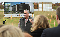 NWA Democrat-Gazette/J.T. WAMPLER Springdale mayor Doug Spouse speaks Sunday Nov. 4, 2018 during an event for the Highlands Oncology Group to break ground for their new facility in Springdale. The new facility will be at the southwest corner of Don Tyson Parkway and 1-49.