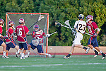 Mission Viejo, CA 05/11/11 - Brandon Suchand (St Margaret #7) and Cooper Pickell (Foothill-Santa Ana #23) in action during the St Margaret-Foothill boys varsity lacrosse game at Mission Viejo High School for the 2011 CIF Southern Section South Division Championship.  Foothill defeated St Margaret 15-10.