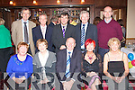 5812-5816.---------.All Rise.--------.Michael Griffin(seated centre)from Knockmoyle Tralee,with all his work colleague's from his office of court service's Ashe St Tralee,at his retirement party last Friday night in the Kerin's O'Rahilly's GAA clubhouse Strand Rd Tralee,also seated were L-R Eileen Carroll,Josephine and Michael Griffin,Valerie Lynch and Una Deady,back L-R Donal McCarthy,Frank Lucey,Judge James O'Connor,Richard Maguire and Richard McElligott.
