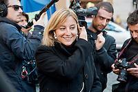 Roberta Lombardi , deputata del Movimento Cinque Stelle, davanti a Montecitorio<br /> Roberta Lombardi, deputy of the Five Star Movement, in front of Montecitorio