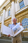 David Shepherd, artist, at Christ Church during the Sunday Times Oxford Literary Festival, UK, 2-10 April 2011. Two copies of his book The David Shepherd Archive Collection were sold at the festival for &pound;2,500 each.<br />
