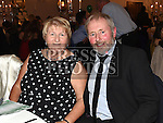 Club Chairperson John McEvoy and his wife Sheila at St. Fechins GFC 75th anniversary dinner in the Westcourt Hotel. Photo:Colin Bell/pressphotos.ie