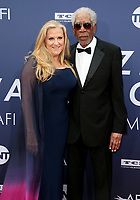 6 June 2019 - Hollywood, California - Lori McCreary, Morgan Freeman. American Film Institute's 47th Life Achievement Award Gala Tribute To Denzel Washington held at Dolby Theatre.    <br /> CAP/ADM/FS<br /> ©FS/ADM/Capital Pictures