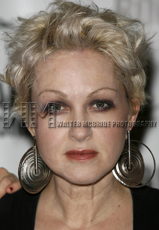 Cyndi Lauper.attending the Opening Night after party for the Roundabout Theatre Company's Broadway production of THE THREEPENNY OPERA at Studio 54 in New York City.. April 20, 2006. © Walter McBride/WM Photography