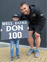 Exeter Chiefs' Don Armand poses for a fan on his 100th appearance for Exeter<br /> <br /> <br /> Photographer Bob Bradford/CameraSport<br /> <br /> Gallagher Premiership - Exeter Chiefs v Northampton Saints - Saturday 18th May 2019 - Sandy Park - Exeter<br /> <br /> World Copyright © 2019 CameraSport. All rights reserved. 43 Linden Ave. Countesthorpe. Leicester. England. LE8 5PG - Tel: +44 (0) 116 277 4147 - admin@camerasport.com - www.camerasport.com