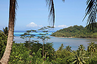 View across Ha'Apu Bay, on Huahine-Iti on the island of Huahine, in the Leeward Islands, part of the Society Islands, in French Polynesia. Picture by Manuel Cohen