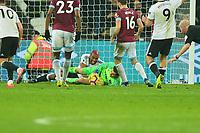 lukasz Fabianski of West Ham United makes a save during West Ham United vs Fulham, Premier League Football at The London Stadium on 22nd February 2019