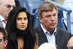 11.09.2011, Flushing Meadows, New York, USA, WTA Tour, US Open, Finale im einzel der Damen, im Bild . ACTOR ALEC BALDWIN WITH HIS GIRLFRIEND YOGA INSTRUCTOR HILARIA THOMAS // during WTA Tour US Open tennis tournament at Flushing Meadows, women singles final, New York, USA on 11/09/2011. EXPA Pictures © 2011, PhotoCredit: EXPA/ Newspix/ Marek Janikowski +++++ ATTENTION - FOR AUSTRIA/(AUT), SLOVENIA/(SLO), SERBIA/(SRB), CROATIA/(CRO), SWISS/(SUI) and SWEDEN/(SWE) CLIENT ONLY +++++