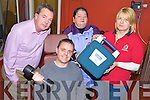 DEFRILLATOR: Manager of the Ballybunion Health and Leisure Centre, Padraig Hanrahan accepting a defibrillator from the staff of the now closed Ballyloughran Centre, with l-r: Noreen Houlihan, Colette O'Connor (Ballyloughran) and Tom Ryan (Ballyloughran) at front.