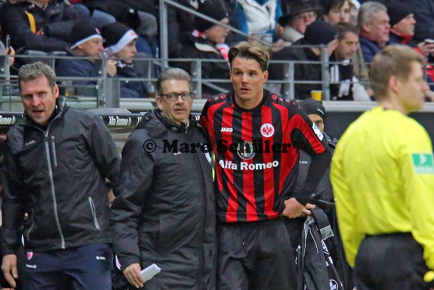 Alex Meier (Eintracht) wird eingewechselt - Eintracht Frankfurt vs. FC Augsburg