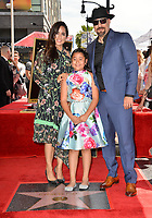 LOS ANGELES, CA. April 18, 2019: B Real &amp; Family at the Hollywood Walk of Fame Star Ceremony honoring hip-hop group Cypress Hill.<br /> Pictures: Paul Smith/Featureflash