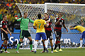 (L-R) Philipp Lahm, Manuel Neuer (GER), Hulk (BRA), Thomas Muller, Jerome Boateng (GER), JULY 8, 2014 - Football / Soccer : FIFA World Cup Brazil 2014 Semi Final match between Brazil and Germany at the Estadio Mineirao in Belo Horizonte, Brazil. (Photo by AFLO) [3604]