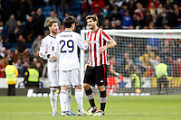 Real Madrid CF vs Athletic Club de Bilbao (5-1) at Santiago Bernabeu stadium. The picture shows Sergio Ramos, Alvaro Morata and Fernando Llorente. November 17, 2012. (ALTERPHOTOS/Caro Marin) NortePhoto