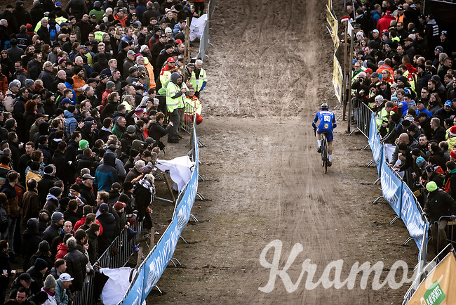 Zdenek Stybar (CZE/Deceuninck-Quick Step)  in the infamous 'Pit'<br /> <br /> CX Superprestige Zonhoven (BEL) 2019<br /> Elite & U23 mens race