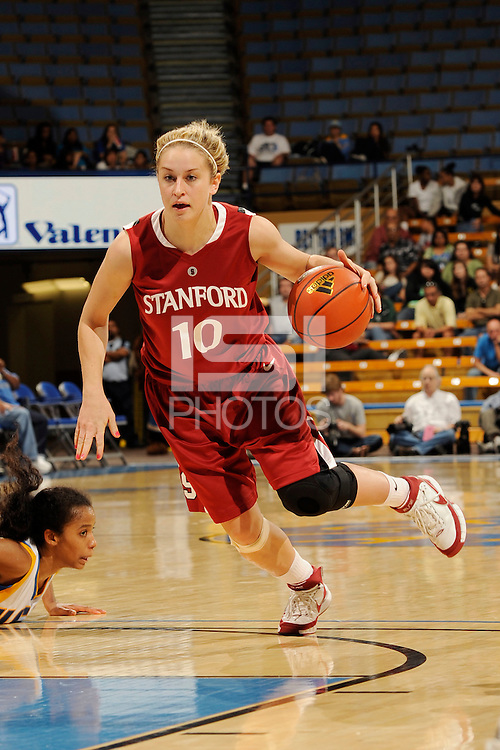 January 10, 2010.  Stanford's JJ Hones in action against UCLA.  The Cardinal defeated the Bruins, 65-61.LOS ANGELES, CA - JANUARY 10:  JJ Hones of the Stanford Cardinal during Stanford's 65-61 win against the UCLA Bruins on January 10, 2010 at Pauley Pavilion in Los Angeles, California.