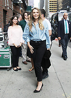 NEW YORK, NY - AUGUST 3: Elizabeth Olsen at The Late Show with Stephen Colbert in New York City on August 3, 2017. Credit: RW/MediaPunch
