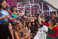 SAO PAULO, SP. 10.11.2013. CHIQUINHA NO DOMINGO LEGAL. A atriz mexicana Maria Antonieta de Las NIeves, interprete da personagem Chiquinha do seriado Chaves, durante participação no programa Domingo Legal do SBT, na tarde deste domingo (10). (Foto: Adriana Spaca/Brazil Photo Press)