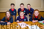 Leena Daly, Fionn Diggin, Niamh Horigan back l-r Paddy Falvey, Conor Diggin and Rory O'Connell from Listellick NS  at the Credit Union Primary schools  Table Quiz in Brandon Hotel on Sunday