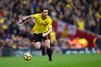 Watford's Daryl Janmaat in action <br /> <br /> Photographer Craig Mercer/CameraSport<br /> <br /> The Premier League - Sunday 11th March 2018 - Arsenal v Watford - The Emirates - London<br /> <br /> World Copyright &copy; 2018 CameraSport. All rights reserved. 43 Linden Ave. Countesthorpe. Leicester. England. LE8 5PG - Tel: +44 (0) 116 277 4147 - admin@camerasport.com - www.camerasport.com