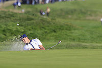 Bryson Dechambeau (Team USA) chips from a bunker at the 9th green during Saturday's Foursomes Matches at the 2018 Ryder Cup 2018, Le Golf National, Ile-de-France, France. 29/09/2018.<br /> Picture Eoin Clarke / Golffile.ie<br /> <br /> All photo usage must carry mandatory copyright credit (&copy; Golffile | Eoin Clarke)
