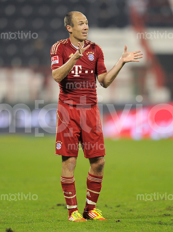 Fussball 1. Bundesliga:  Saison   2011/2012    07.01.2012 Winter Trainingslager des FC Bayern Muenchen  Testspiel  FC Bayern Muenchen  vs.  Al - Ahly Kairo Arjen Robben (FC Bayern Muenchen)