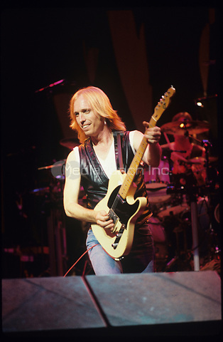 Tom Petty and the Heartbreakers performing on the Rock and Roll Caravan Tour at Poplar Creek in Hoffman Estates, Illinois.<br />June 20,1987<br />&copy; Gene Ambo /MediaPunch **NO UK, NO JAPAN***