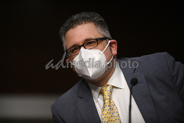 Mark A. Calabria, director of the Federal Housing Finance Agency, answers questions of U.S. Senators on Capitol Hill in Washington, D.C., June 9, 2020, during a hearing of the U.S. Senate Committee on Banking, Housing, and Urban Affairs to examine housing regulations during the pandemic. <br /> Credit: Astrid Riecken / Pool via CNP/AdMedia
