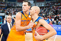 Herbalife Gran Canaria's players Darko Planinic and Albert Oliver during the final of Supercopa of Liga Endesa Madrid. September 24, Spain. 2016. (ALTERPHOTOS/BorjaB.Hojas) NORTEPHOTO.COM