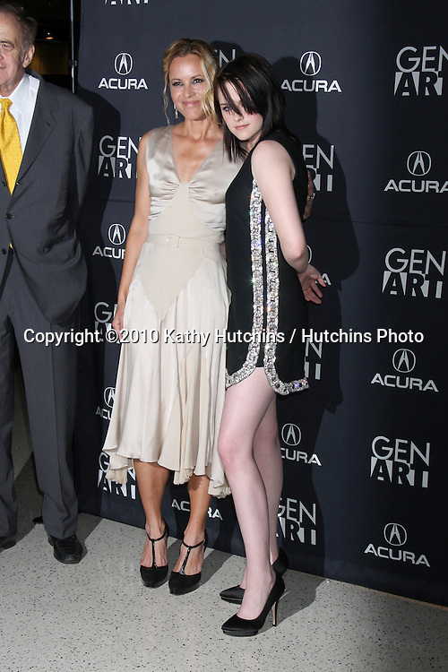 "Maria Bello & Kristen Stewart.arriving at ""The Yellow Handkerchief"" LA Premiere.Pacific Design Center Silver Screen Theater.Los Angeles, CA.February 18, 2010.©2010 Kathy Hutchins / Hutchins Photo...."