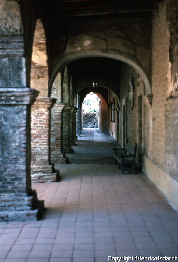 "California Missions: Mission San Juan Capistrano. ""The oldest building in California."" Photo '80."
