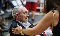 NWA Democrat-Gazette/BEN GOFF @NWABENGOFF<br /> Eddie Sutton, former Arkansas head coach, attends Saturday, Oct. 5, 2019, during the annual Arkansas Red-White Game at Barnhill Arena in Fayetteville.