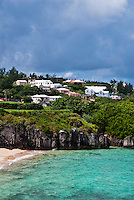 Bermuda beach and houses.