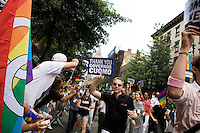 The 2011 NYC Pride March on 26 June 2011 in New York, New York, held two days after the New York State Senate voted 33-29 to legalize gay marriage.
