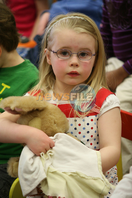 Chloe Lennon at the Children's Bunny Stories in the Library..Photo NEWSFILE/Jenny Matthews.(Photo credit should read Jenny Matthews/NEWSFILE)....This Picture has been sent you under the condtions enclosed by:.Newsfile Ltd..The Studio,.Millmount Abbey,.Drogheda,.Co Meath..Ireland..Tel: +353(0)41-9871240.Fax: +353(0)41-9871260.GSM: +353(0)86-2500958.email: pictures@newsfile.ie.www.newsfile.ie.FTP: 193.120.102.198.