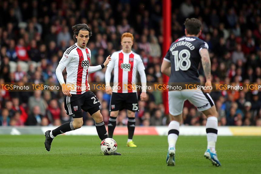 Jota of Brentford in action during Brentford vs Derby County, Sky Bet EFL Championship Football at Griffin Park on 14th April 2017