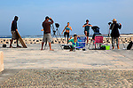 Video production shoot on coast near El Cotillo, Fuerteventura, Canary Islands, Spain