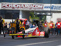 Jun 11, 2017; Englishtown , NJ, USA; NHRA top fuel driver Doug Kalitta during the Summernationals at Old Bridge Township Raceway Park. Mandatory Credit: Mark J. Rebilas-USA TODAY Sports
