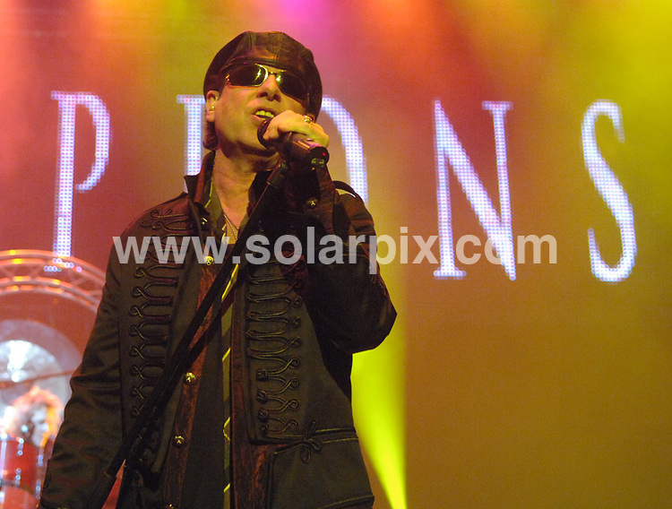 **ALL ROUND PICTURES FROM SOLARPIX.COM**.**WORLDWIDE SYNDICATION RIGHTS**.Scorpions in concert at Manchester Apollo, Manchester, UK. 15th October 2008..This pic: Klaus Meine from Scorpions..JOB REF: 7609 SGD     DATE: 15_10_2008.**MUST CREDIT SOLARPIX.COM OR DOUBLE FEE WILL BE CHARGED* *UNDER NO CIRCUMSTANCES IS THIS IMAGE TO BE REPRODUCED FOR ANY ONLINE EDITION WITHOUT PRIOR PERMISSION*