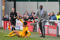 Southend Manager, Sol Campbell during Dover Athletic vs Southend United, Emirates FA Cup Football at the Crabble Athletic Ground on 10th November 2019