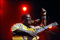 """Vusi Mahlasela, famous  Music-Poet and simply known as """"The Voice"""", based in the Township of Mamelodi (Mama of Melodies)/ Pretoria performing at Cape Town Jazz Festival, SA 2010"""