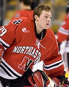 Brad Thiessen (NU - 39) - The Northeastern University Huskies defeated the Harvard University Crimson 3-1 in the Beanpot consolation game on Monday, February 12, 2007, at TD Banknorth Garden in Boston, Massachusetts.