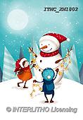 Marcello, CHRISTMAS SANTA, SNOWMAN, WEIHNACHTSMÄNNER, SCHNEEMÄNNER, PAPÁ NOEL, MUÑECOS DE NIEVE, paintings+++++,ITMCXM1802,#X#