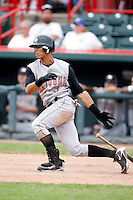 June 25, 2009:  Center Fielder Gorkys Hernandez (3) of the Altoona Curve at bat during a game at Jerry Uht Park in Erie, PA.  The Altoona Curve are the Eastern League Double-A affiliate of the Pittsburgh Pirates.  Photo by:  Mike Janes/Four Seam Images